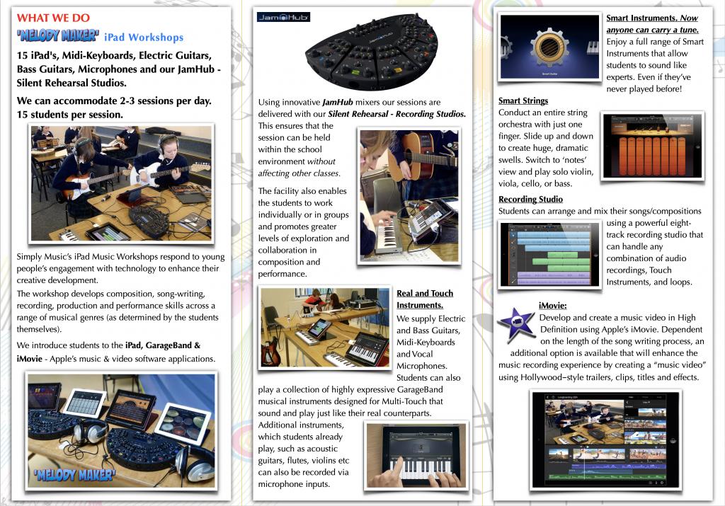 Simply Music iPad workshops brochure
